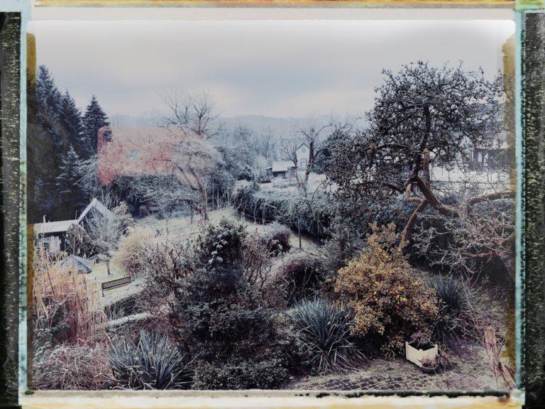 Winterlandschaft entsteht im Iphone